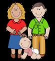 famiglia in una clipart